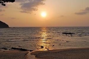 琴引浜の夕焼け